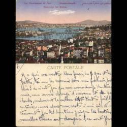 Turquie - Constantinople - Vue panoramique du port