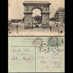 21 - Dijon - La porte Guillaume - 1904 - Voyagé - Dos vert divisé
