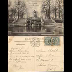 21 - Dijon - Square de la place Darcy - 1904 - Voyagé