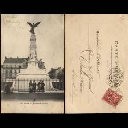 21 - Dijon - Monument Carnot - Voyagé - dos non divisé