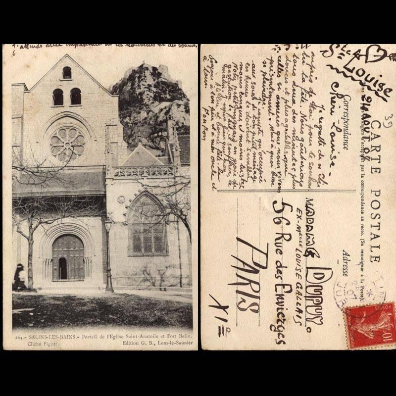 39 - Salins les Bains - Portail de l'Eglise Saint Anatole et Fort Belin
