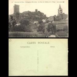 43 - Environs du Puy - Polignac - La tour du Chateau et le village