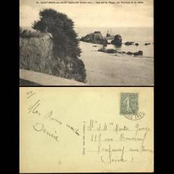 44 - Saint Marc en Saint Nazaire - Vue sur la plage les rochers et la jetée
