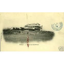 Djibouti - Palais du Gouverneur - Carte tachee