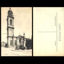 52 - Langres - L'Eglise Saint Martin et la statue de Jeanne d'Arc