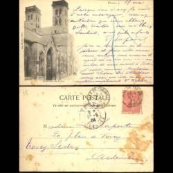 55 - Verdun - La cathédrale vue de face - 1904
