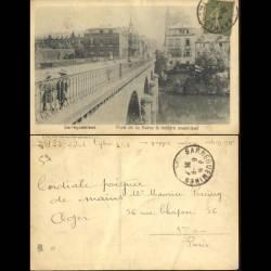 57 - Sarreguemines - Pont de la Sarre et theatre municipal