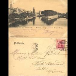 57 - Metz - Vue prise du Moyen Pont