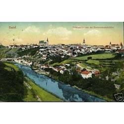 Autriche - Znaim Totalansicht von der Norwestbahnbrucke