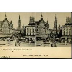 BELGIQUE - ANVERS - LA RUE AU SUCRE - TRAMWAY