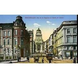 Belgique - Bruxelles - Rue de la regence et palais
