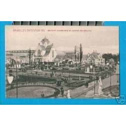 BELGIQUE - EXPO. 1910 - SECTION ALLEMANDE