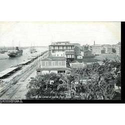 Egypte - Port Said - Entree du canal et vue