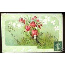 Bonne Annee - Fleurs - Relief