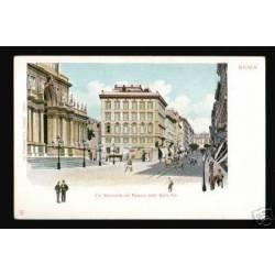 ITALIE -ROMA-VIA NAZIONALE COL PALAZZO DELLE BELLE ARTI