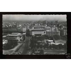 Maroc - Casablanca - Place Lyautey et vue sur la ville