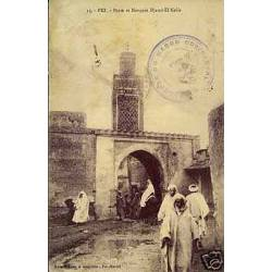 Maroc - Fez - Porte et mosquee Djamal-El-Kebir