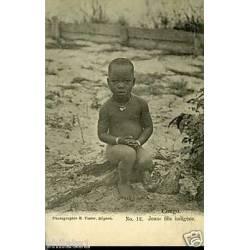 Congo - Jeune fille indigene - Seins nus