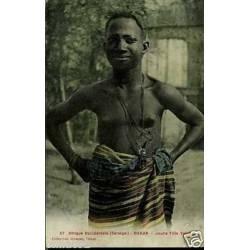 Senegal - Dakar - Jeune fille Voloff - Seins nus