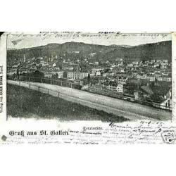 Suisse - Gruss aus St. Gallen - Totalansicht