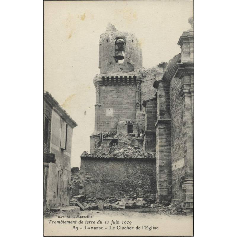 13 - Lambesc - Le clocher de l'eglise