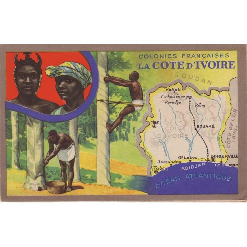 Carte Lion Noir - Cote d'Ivoire