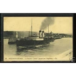 62 - Boulogne sur mer - Paquebot Invicta partant