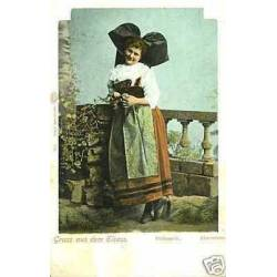 67 - Gruss aus dem Elsass - Jeune alsacienne