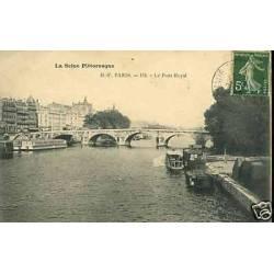 75 - Paris - Le pont Royal - Peniches