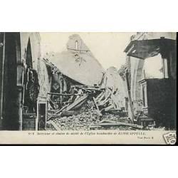 Belgique - L'Eglise bombardee de Ramscappelle