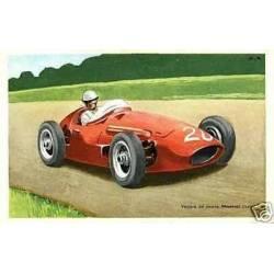 Carte-Pub Tobler - Voiture de course Maserati
