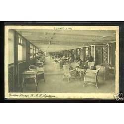 Cunard Line - Garden Lounge - HMS Aquitania