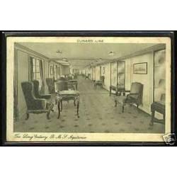 Cunard Line - The long gallery - HMS Aquitania