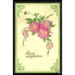Fleurs en ajoutis - Gage d'affection - Carte en relief