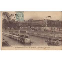 75 - Paris - Le Louvre - Vue prise du Pont-Neuf