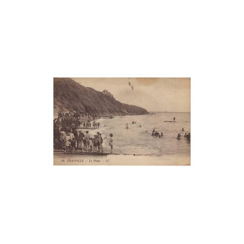 50 - Granville - La plage - Animée