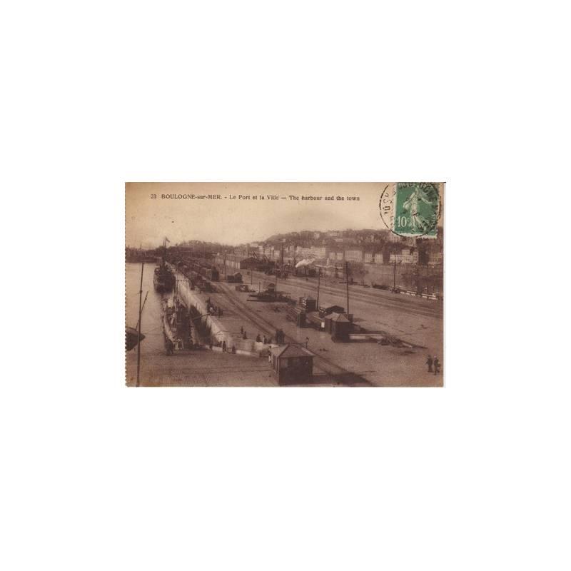 62 - Boulogne sur mer - Le port et la ville - trains