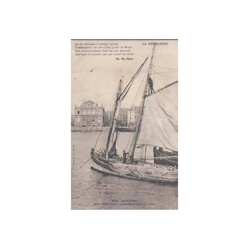 76 - Le Havre - Voilier appareillant pour la peche