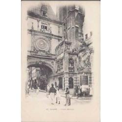 76 - Rouen - La grosse horloge - Animée