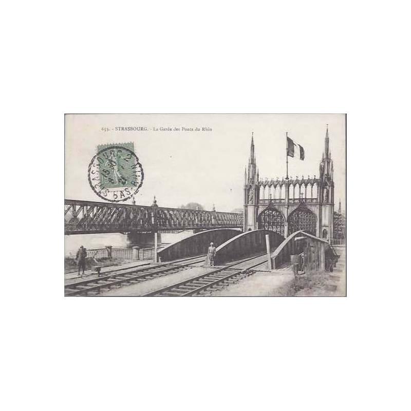 67 - Strasbourg - La garde des ponts du Rhin