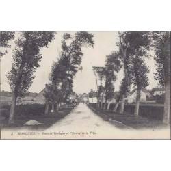 62 - Marquise - Route de Boulogne et entrée de la ville
