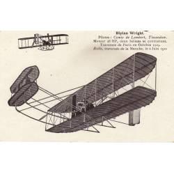 Biplan Wright Pilotes : Comte de Lambert,Tissandier