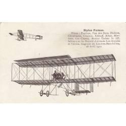 Biplan Farman Pilotes : Paulhan,Van den Born,Dickson...