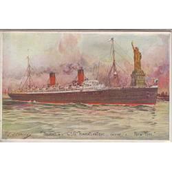 Paquebot de la Cie Gle Transatlantique entrant à New-York