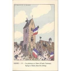 Hansi - 14 - Le printemps en Alsace d'après l'estampe
