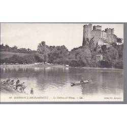 03 - Bourbon l'Archambault - Le chateau et l'etang - Lavandieres