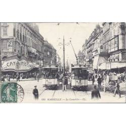 13 - Marseille - La cannebiere - Tramways