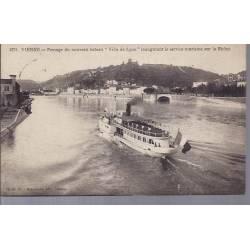"""38 - Vienne - Le nouveau bateau """"Ville de Lyon"""""""
