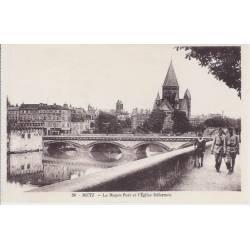 57 - Metz - Le moyen pont et l'eglise réformée