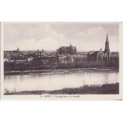 57 - Metz - Vue générale et la Moselle